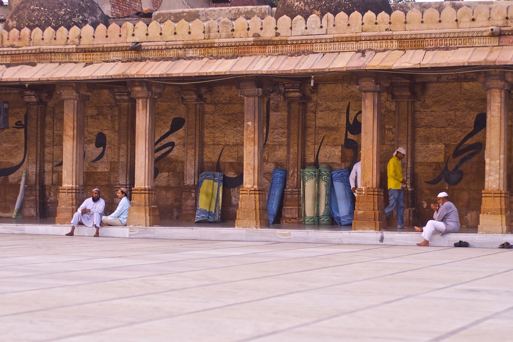 Late afternoon, Jama Masjid Mosque, Ahmedabad, Gujarat,  India