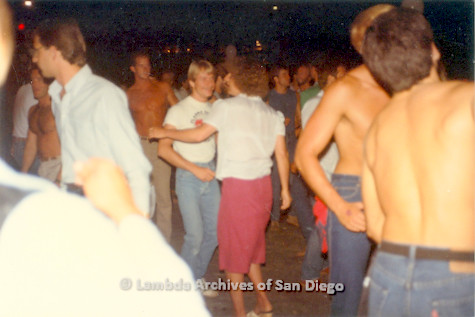 1982 - 'Summer Heat' at the Sports Arena in Point Loma: Variety Show audience Disco Dancing.