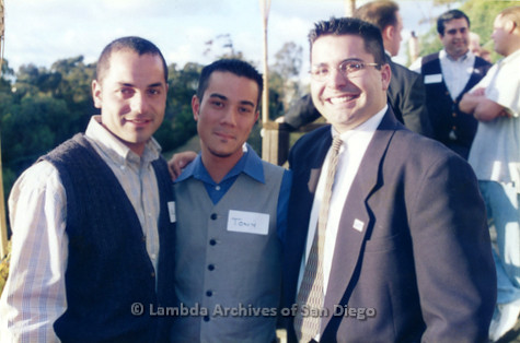 P022.056m.r.t The Center, Centre Street, Donor Appreciation Party: Three men smiling for a photo