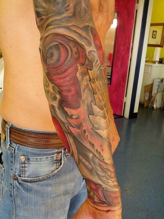 Biomechanical Tattoo Sleeve