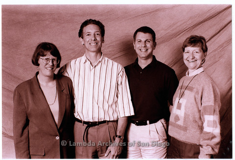 P200.027m.r.t Board members for 1999-2000: Anonymous woman, Frank Nobiletti, Dennis Fiordaliso, and Sharon Parker