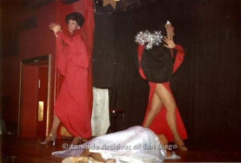 09/26/1982 - The Show Biz Female Impersonator Club on University Avenue in Hillcrest: Drag Performance Fundraiser for the Men's Center.
