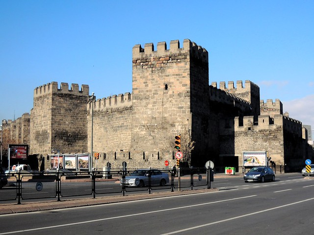 Classic-looking castle right in the middle of Kayseri. by bryandkeith on flickr