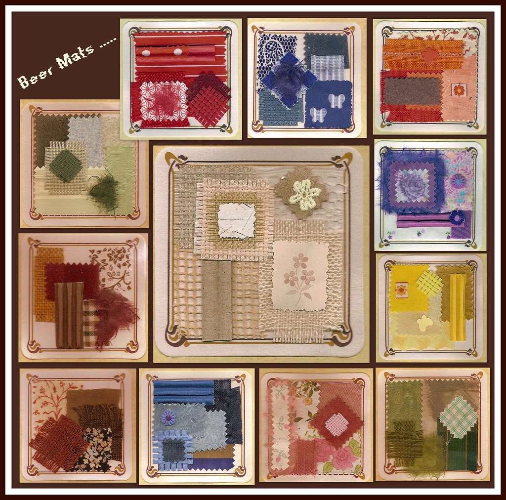 collage beer mats mosaic