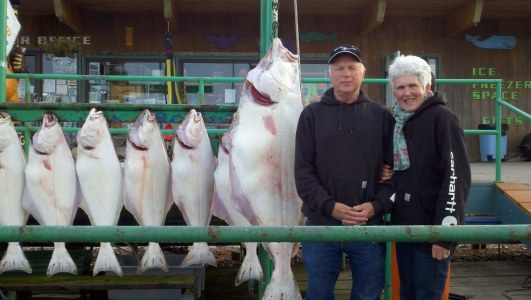 Halibut fishing in Alaska.