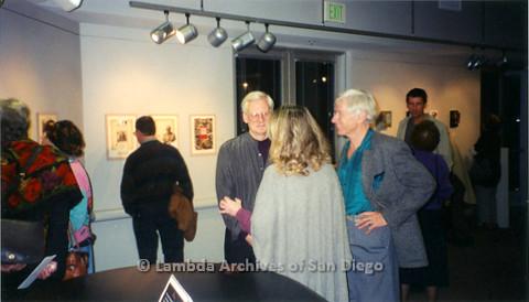 P126.037m.r.t Michelangelo Project by Jim Machecek: Visitors looking at exhibit