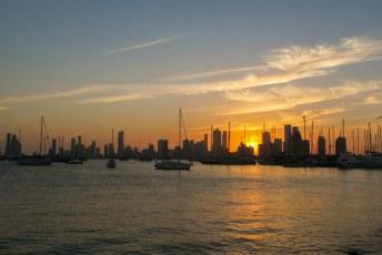 Zonsondergang tijdens 1 van mijn laatste avonden in Cartagena (voorlopig).
