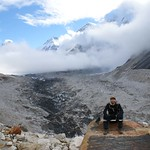87-Camino Gorak Shep.Glaciar
