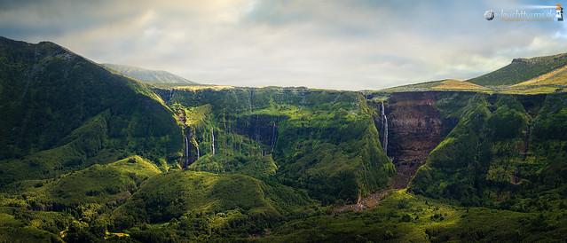 The cascades of Fajã Grande
