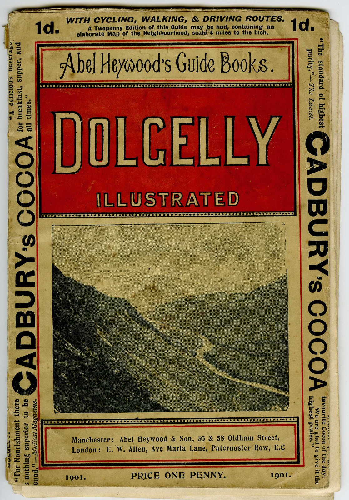 Abel Heywood's Guide Book - Dolgelly Illustrated from 1901