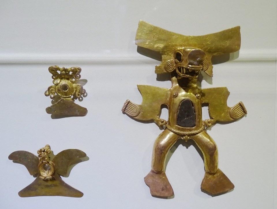 Chaman de oro con mascara de animal Museo de Oro Precolombino Banco Central San Jose Costa Rica 13
