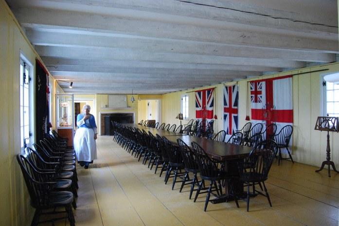 Gran mesa de reuniones en Fort George, Ontario, Niagara-on-the-Lake