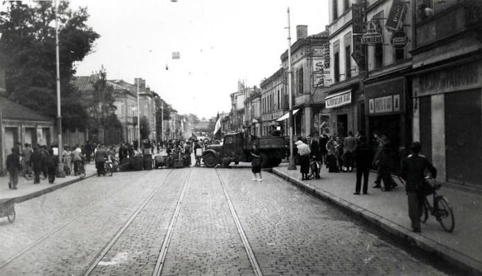 Libération : barricades au Faubourg Bonnefoy, 20 août 1944