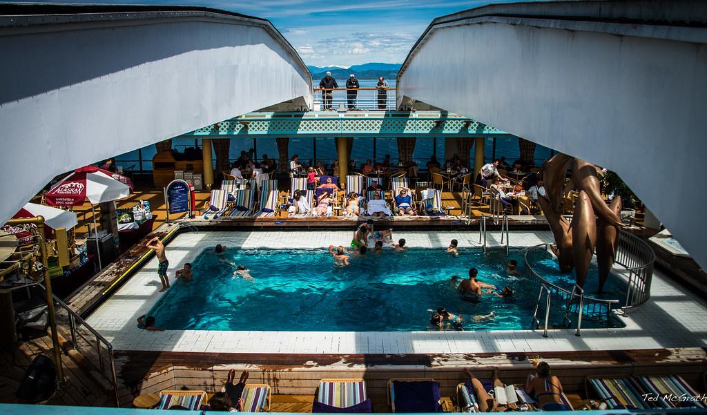 2014 Alaska Cruise Zaandam Lido Deck Pool Ms Zaandam