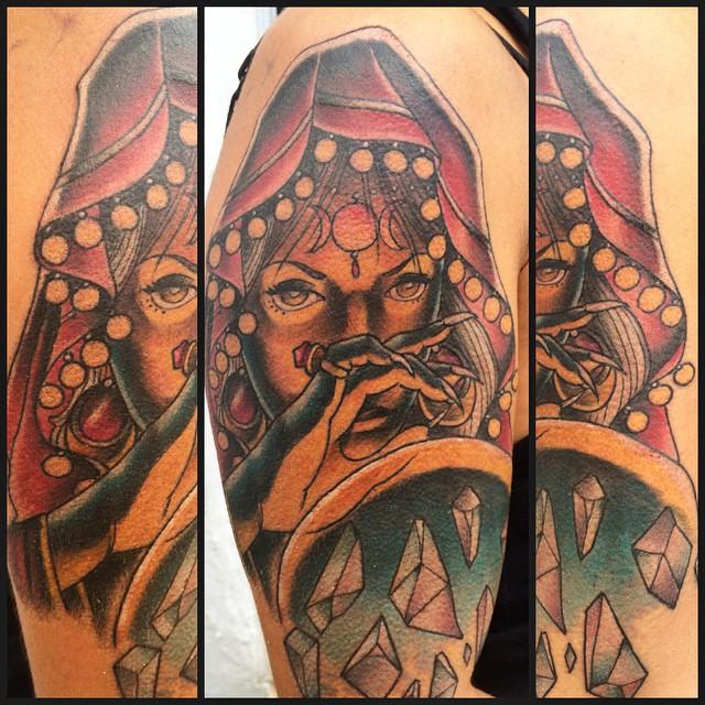 Todays Fun Fun A Great Session Tattoo Tatuaje Gypsy Flickr