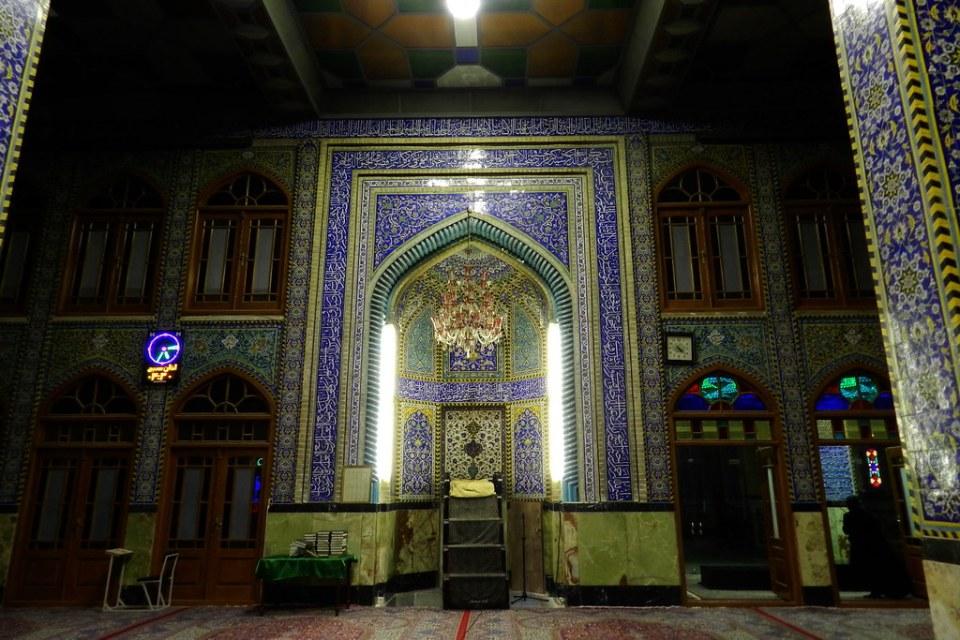 interior Mezquita Hazira santuario Mohammadiyah Yazd Iran 10