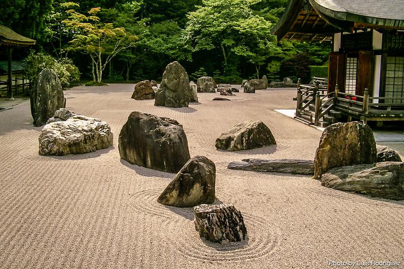 Jardín Banryutei del templo Kongobuji en Koyasan