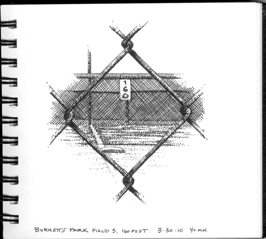 hight resolution of  160 feet through a chain link fence by swaim sketching