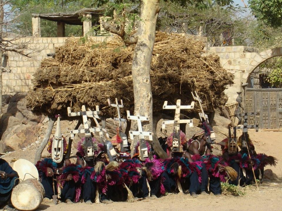 Mascara de danza Pais de los Dogones Mali 29