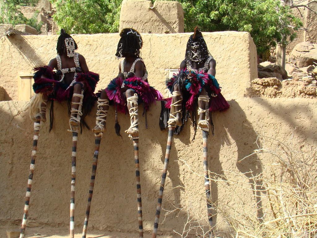 Mascara de danza Pais de los Dogones Mali 24