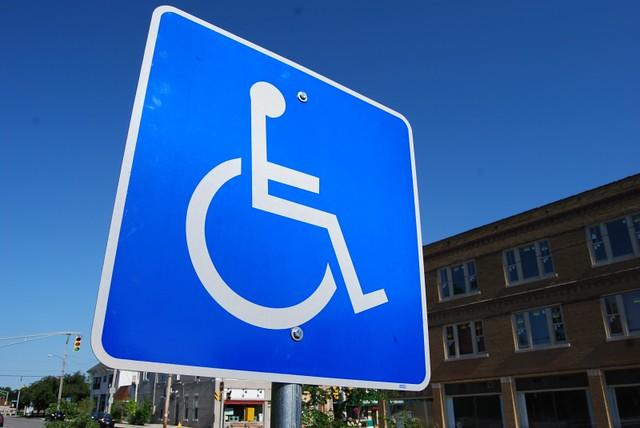 handicap sign steve johnson