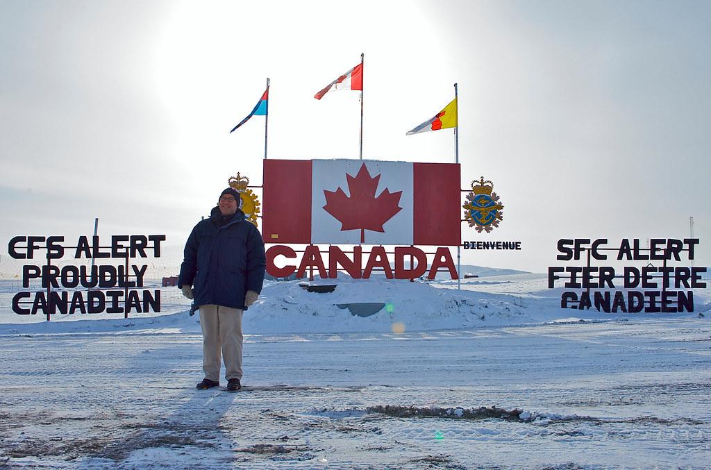Ambassador Jacobson in Alert, Nunavut