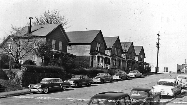 Second Ave. N. near Denny Way, 1957