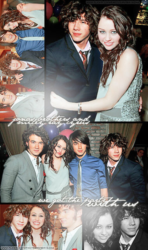 the jonas brothers and miley cyrus.   so I photoshopped thre…   Flickr