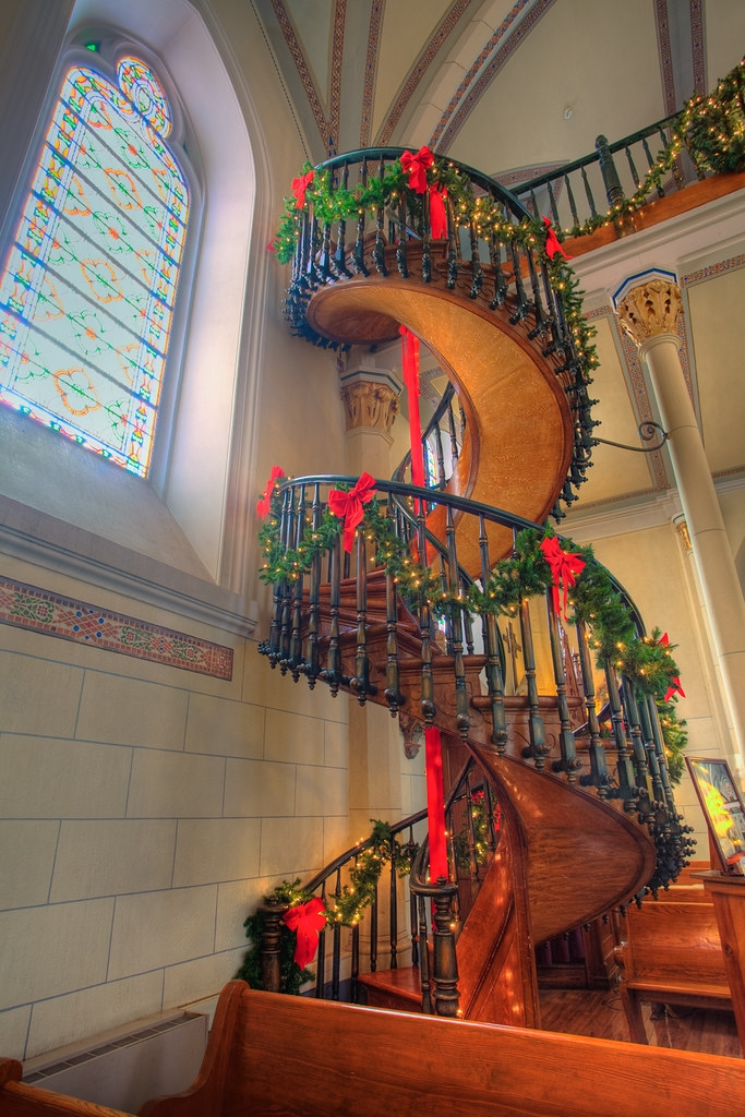 The Spiral Staircase Of Loretto Chapel When The Nuns Of Th… Flickr | Spiral Staircase Loretto Chapel | St Joseph | Immaculate | Gothic | Dangerous | Medieval