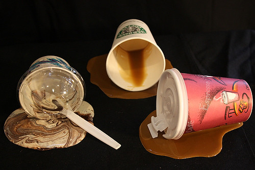 fake spills ice cream