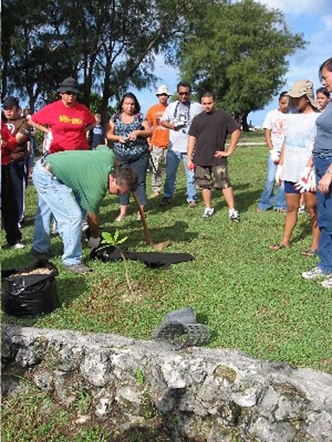 Planting at Fort Soledad, Oct 28, 2006