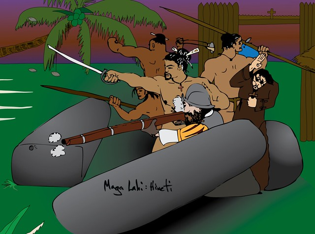 Hineti Protecting Spanish Soldiers