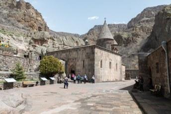 De binnenplaats van het klooster.