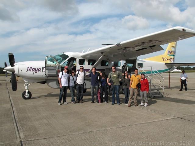 Our plain to Placencia, Belize