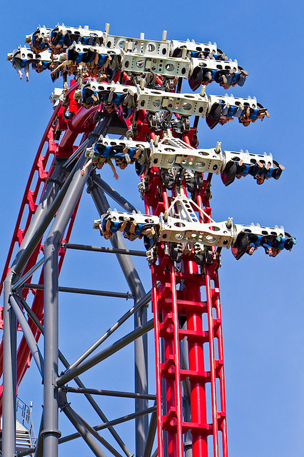 This unpredictability means x2 gives you a different experience every time. X2 Six Flags Logo