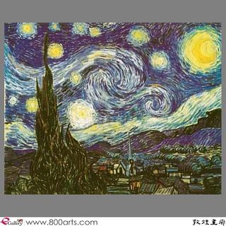 星夜 / 梵谷 | 星夜 / 梵谷 其他 Create Year / 1889 Size(cm) / 48 x61 敦煌… | Flickr