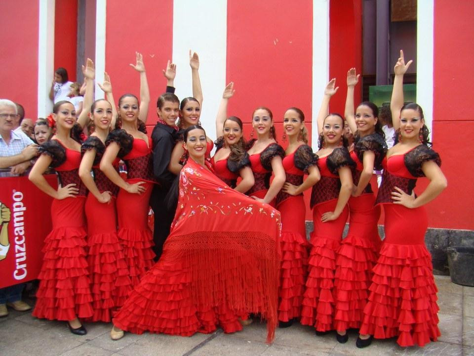 Ballet de Paulina en la III Feria de Abril de Las Palmas de Gran Canaria