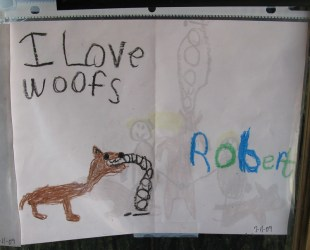 cute wolf drawing love the howl Feb 27 2010 visit to Sain Flickr