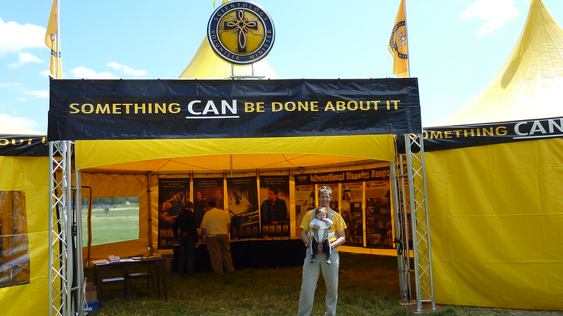 At the Scientology VM Tent