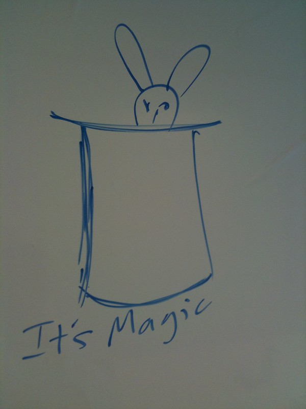 admits he was sceptical but this Magic Whiteboard is very clever  stuff. My drawing? Not so much.