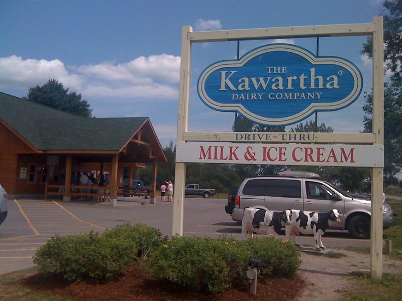 Kawartha Dairy Company for great ice cream