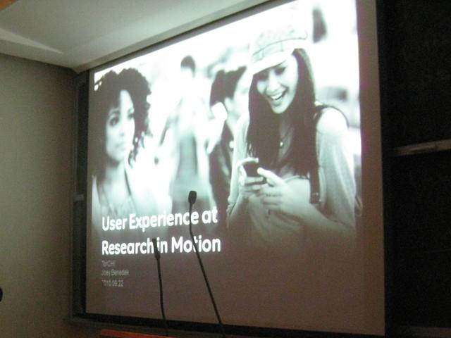 ToRCHI Talk: User Experience at RIM