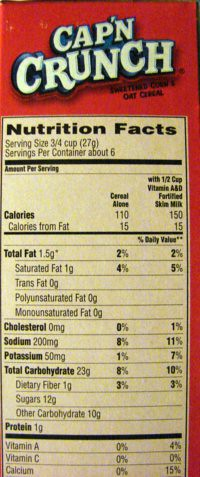 Cap N Crunch Nutrition Label : crunch, nutrition, label, Crunch, Nutrition, Daves, Cupboard, Flickr