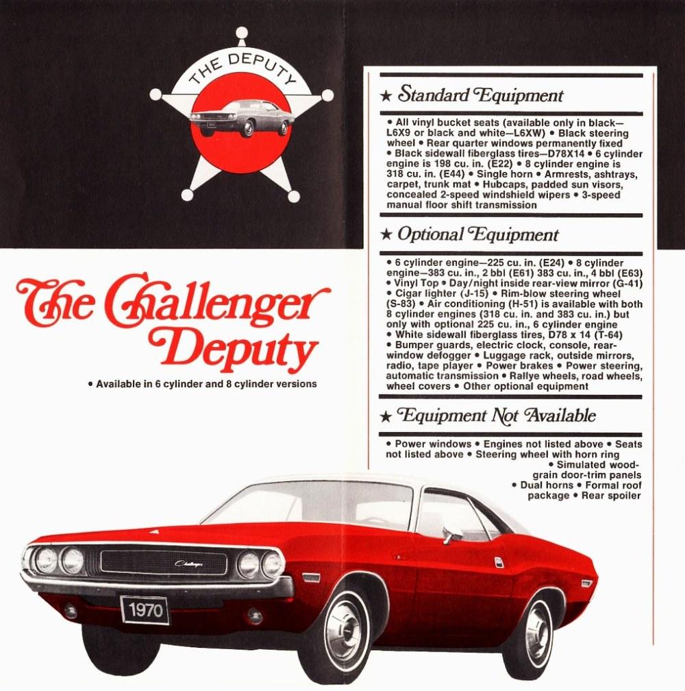 medium resolution of 1970 dodge challenger deputy coupe