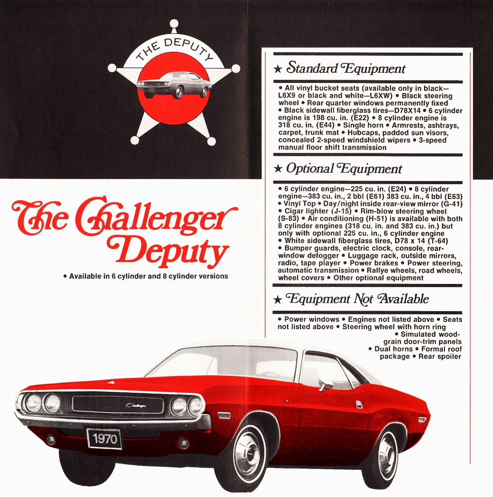 hight resolution of 1970 dodge challenger deputy coupe