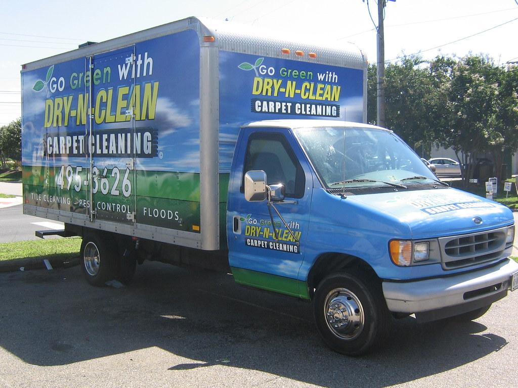 hight resolution of  dry n clean box truck billboard by agwraps