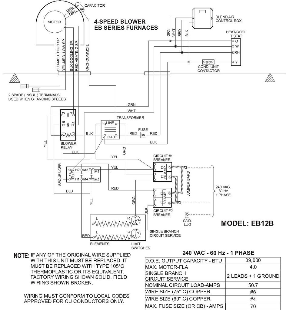 coleman electric air handler wiring diagram