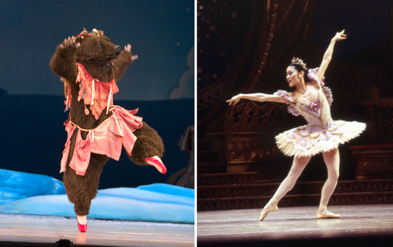 Stacy Shiori Minagawa as a Bear and The Sugar Plum Fairy