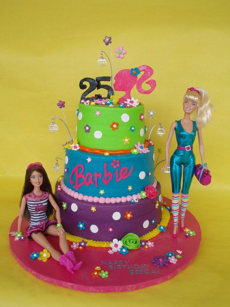 Barbie Themed 25th Birthday Cake Erica Celebrated Her 25th Flickr
