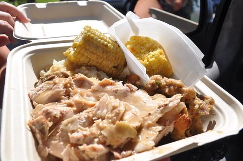 Turkey Plate w/stuffing